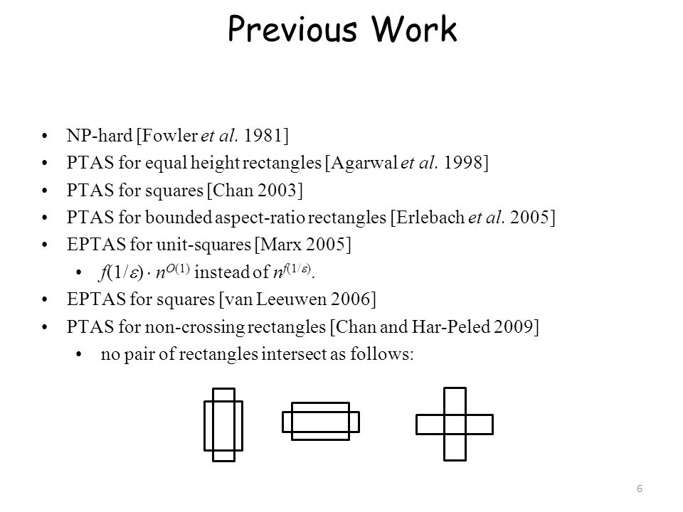 Previous Work NP-hard [Fowler et al. 1981]